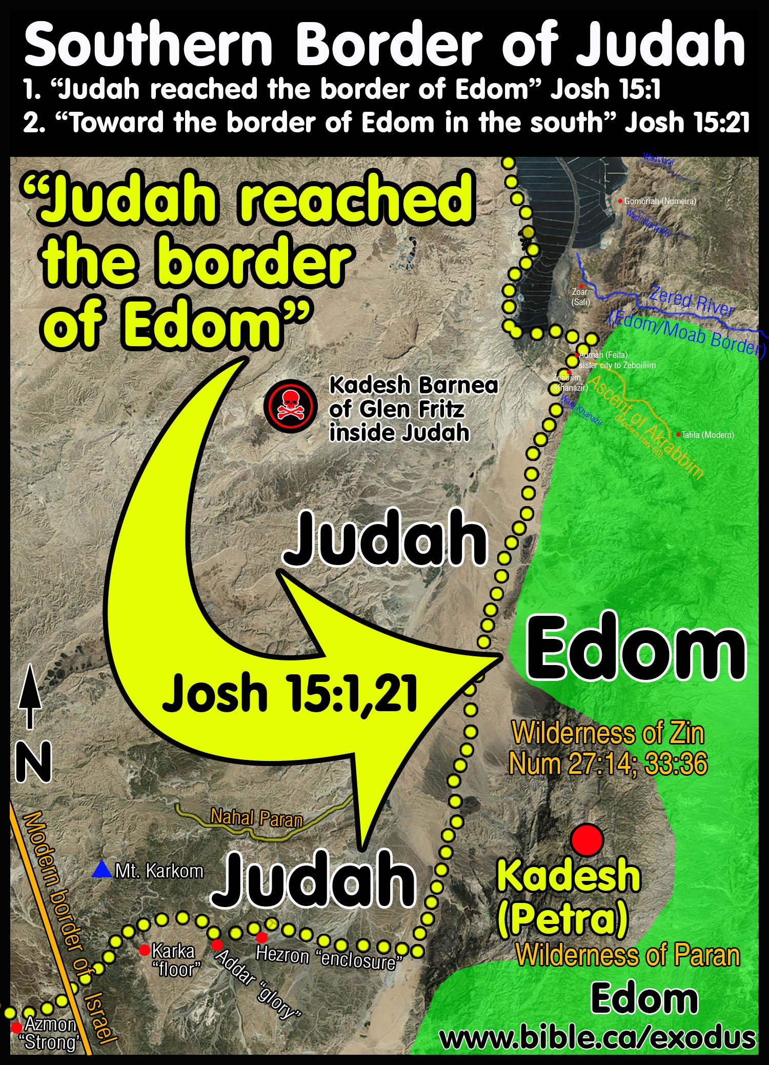 The Southern Border Of Judah And Kadesh Barnea At Petra