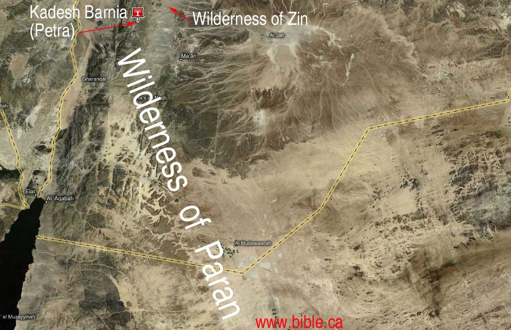 desert of paran map The Wilderness Of Paran The Great And Terrible Wilderness From desert of paran map