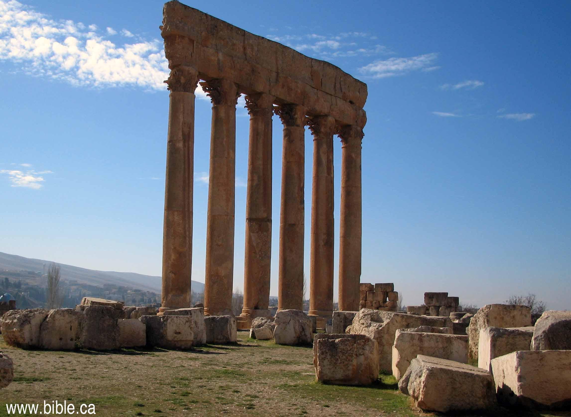Temple Of Jupiter In Baalbek Lebanon Hadrian 135 Ad