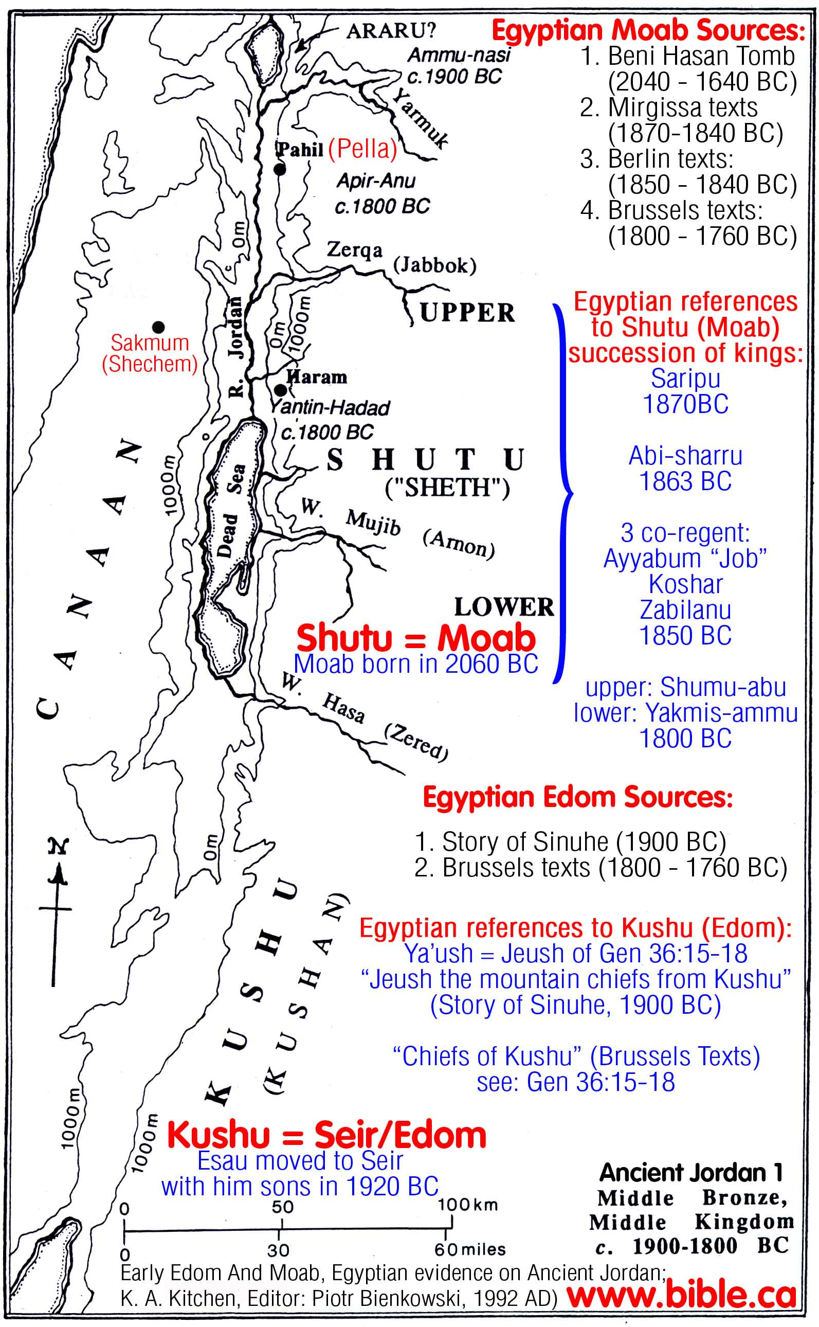The Historical Transjordan Territory Of The Edomites In The Bible - Map of egypt before christ