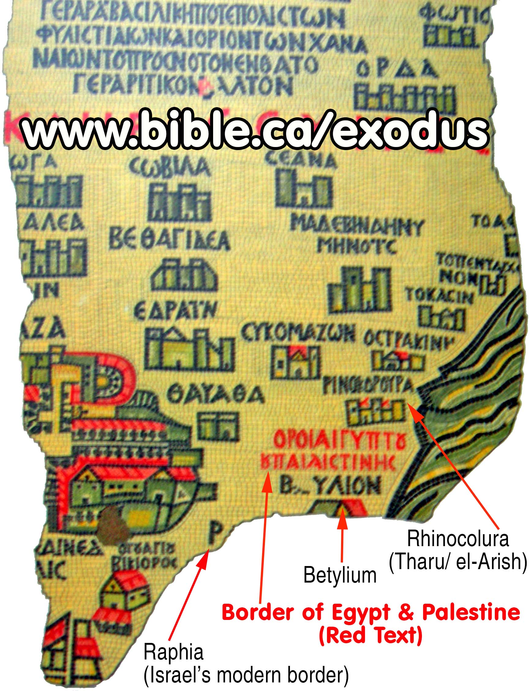 Exodus Route Maps Old Ancient Antique Vintage And Modern Maps - Map of egypt during exodus
