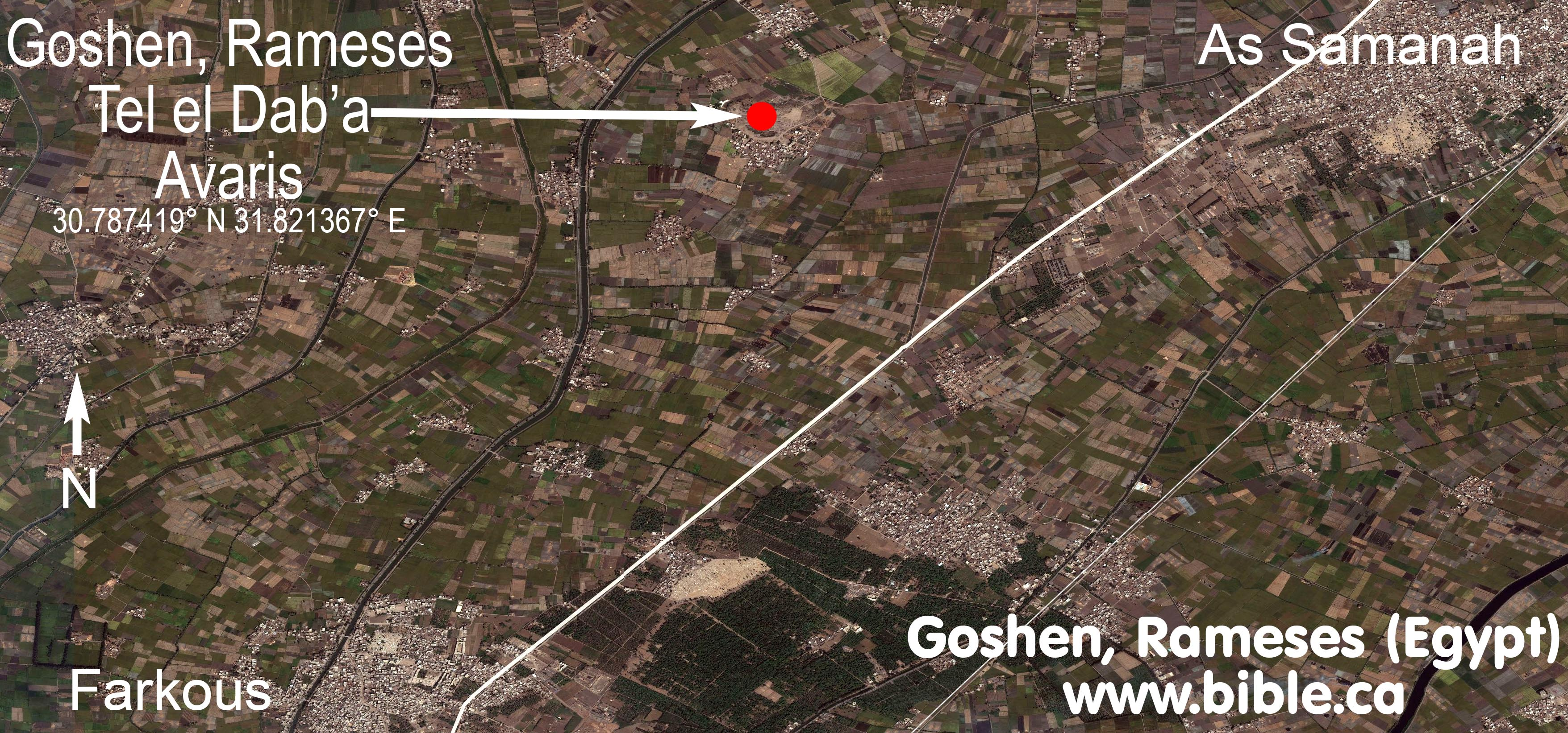 The Exodus Route Goshen And Ramses - Map of egypt goshen