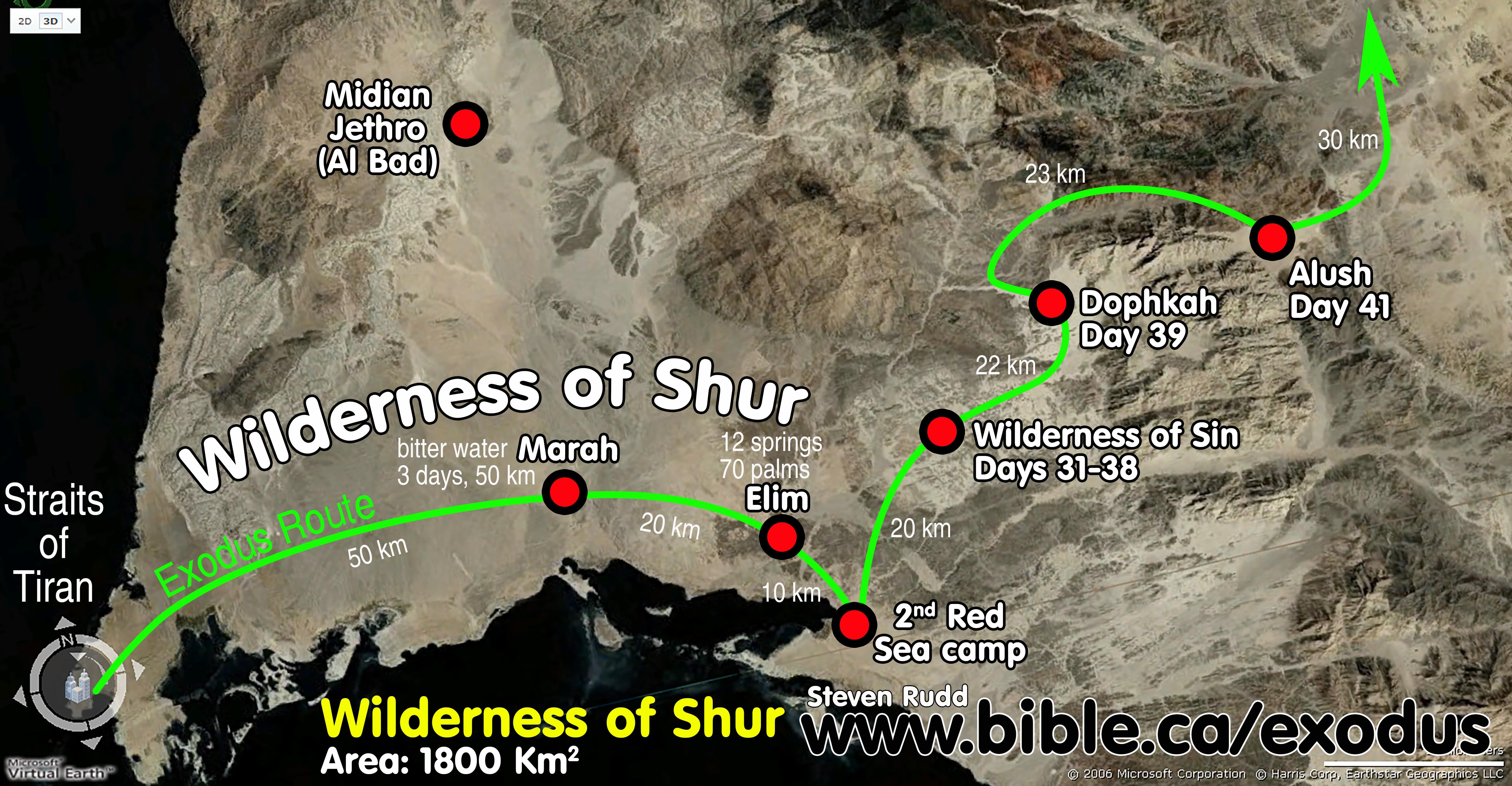 Click to View The Exodus Route Wilderness