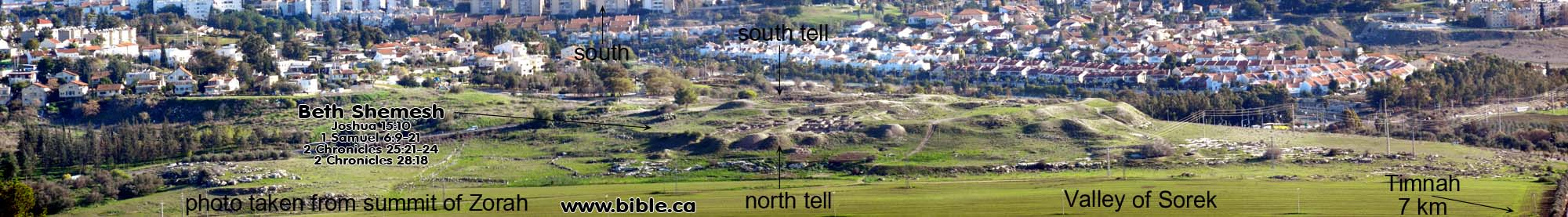 Beth Shemesh Bible Maps: Panorama Photos Of Ancient Israel From The Bible