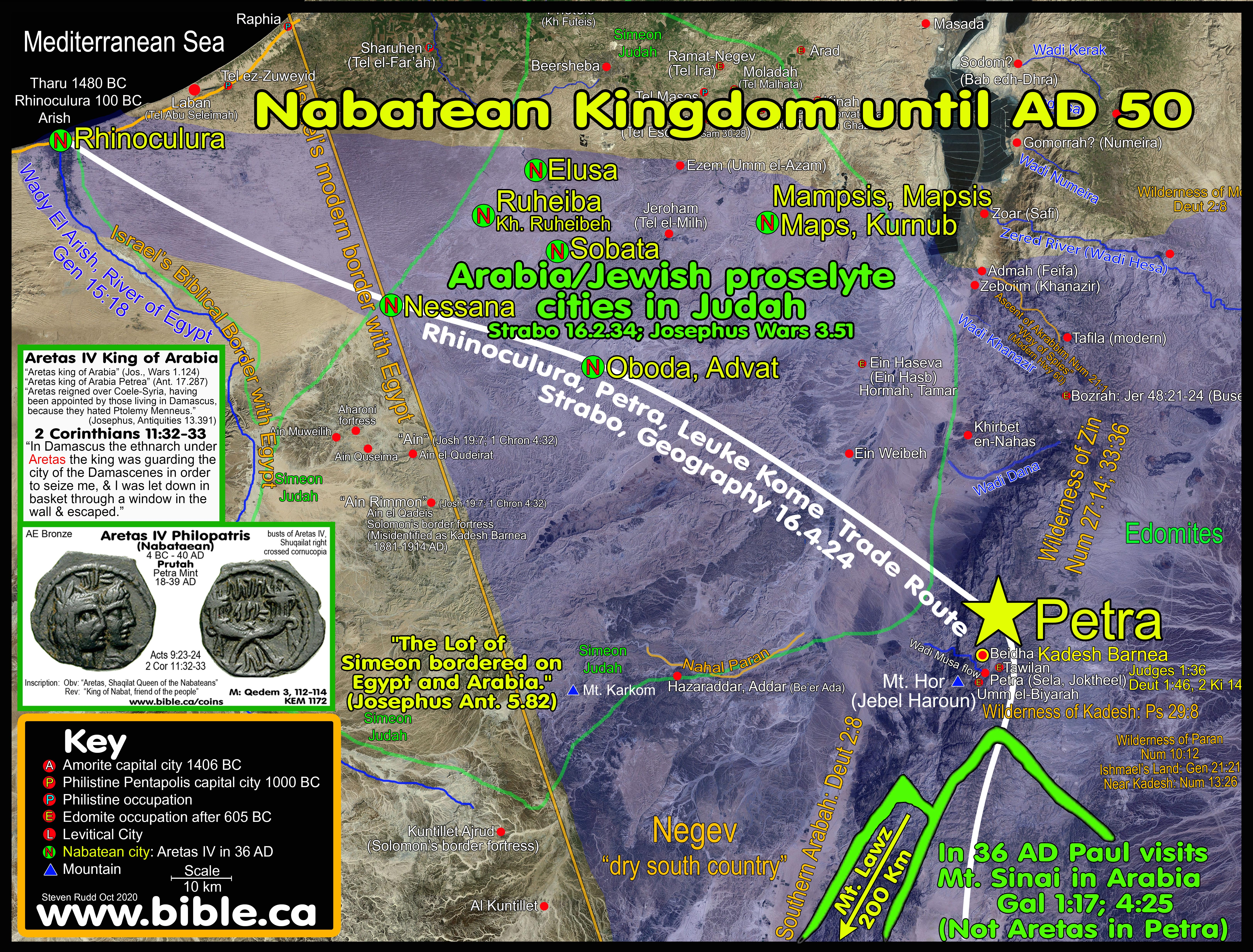 Mt Sinai in Arabia The Exodus Route A scriptural proof with