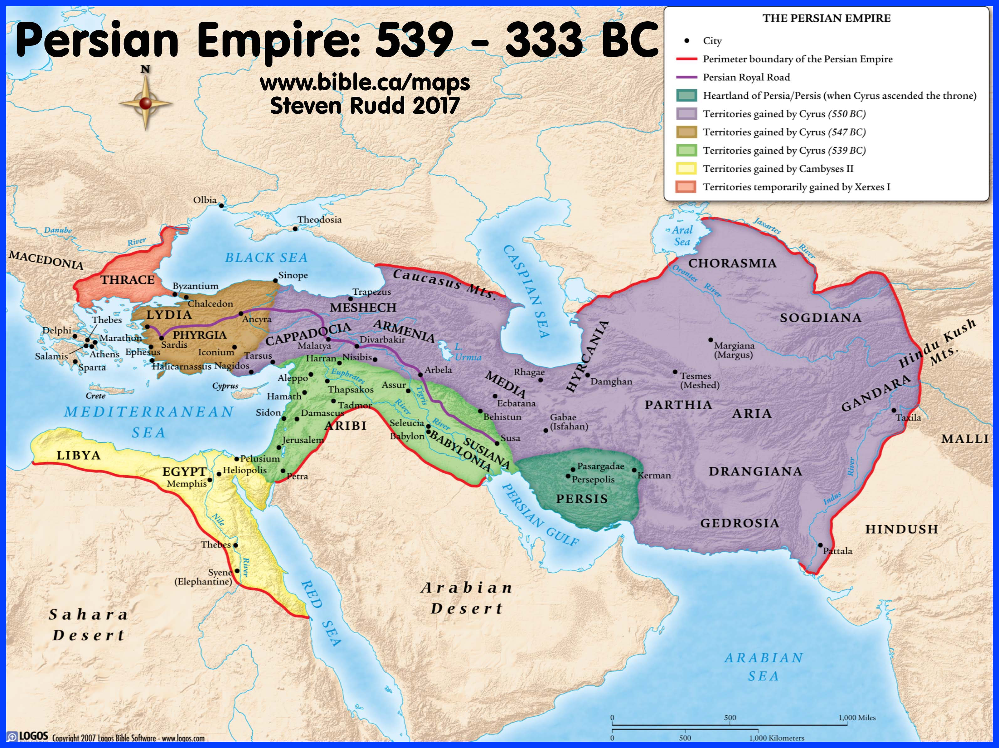 Bible Maps: Successive World Kingdoms: Persia, Babylon, Assyria