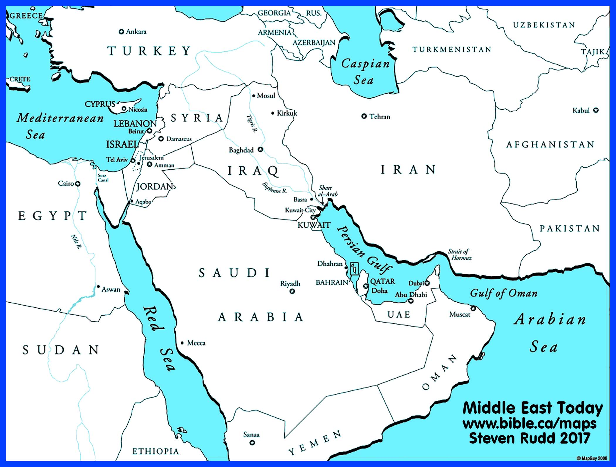 click to view. bible maps middle east today