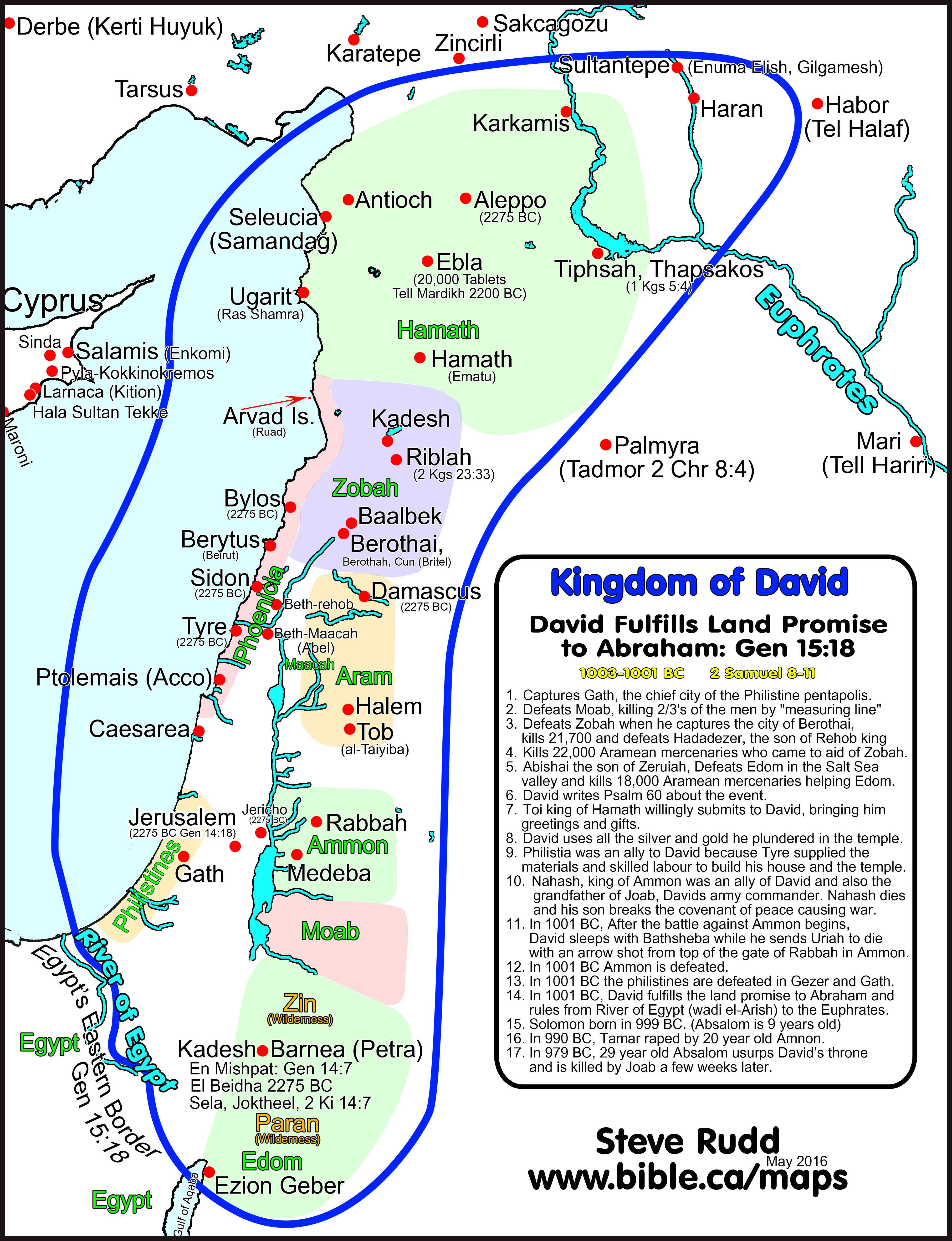 map of the Holy Land, showing Philistia