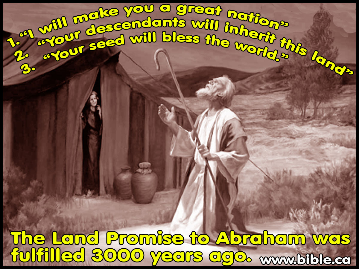 three 3 promises to abraham fulfilled