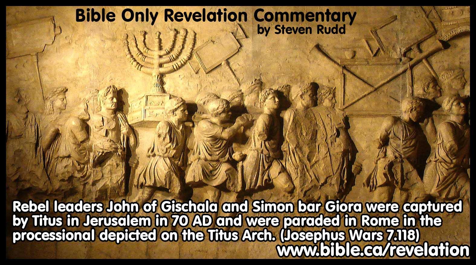 Flavius Josephus Chronology of the Destruction of